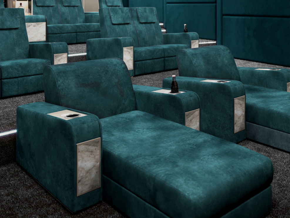 Cinema daybed for luxury home theater room projects