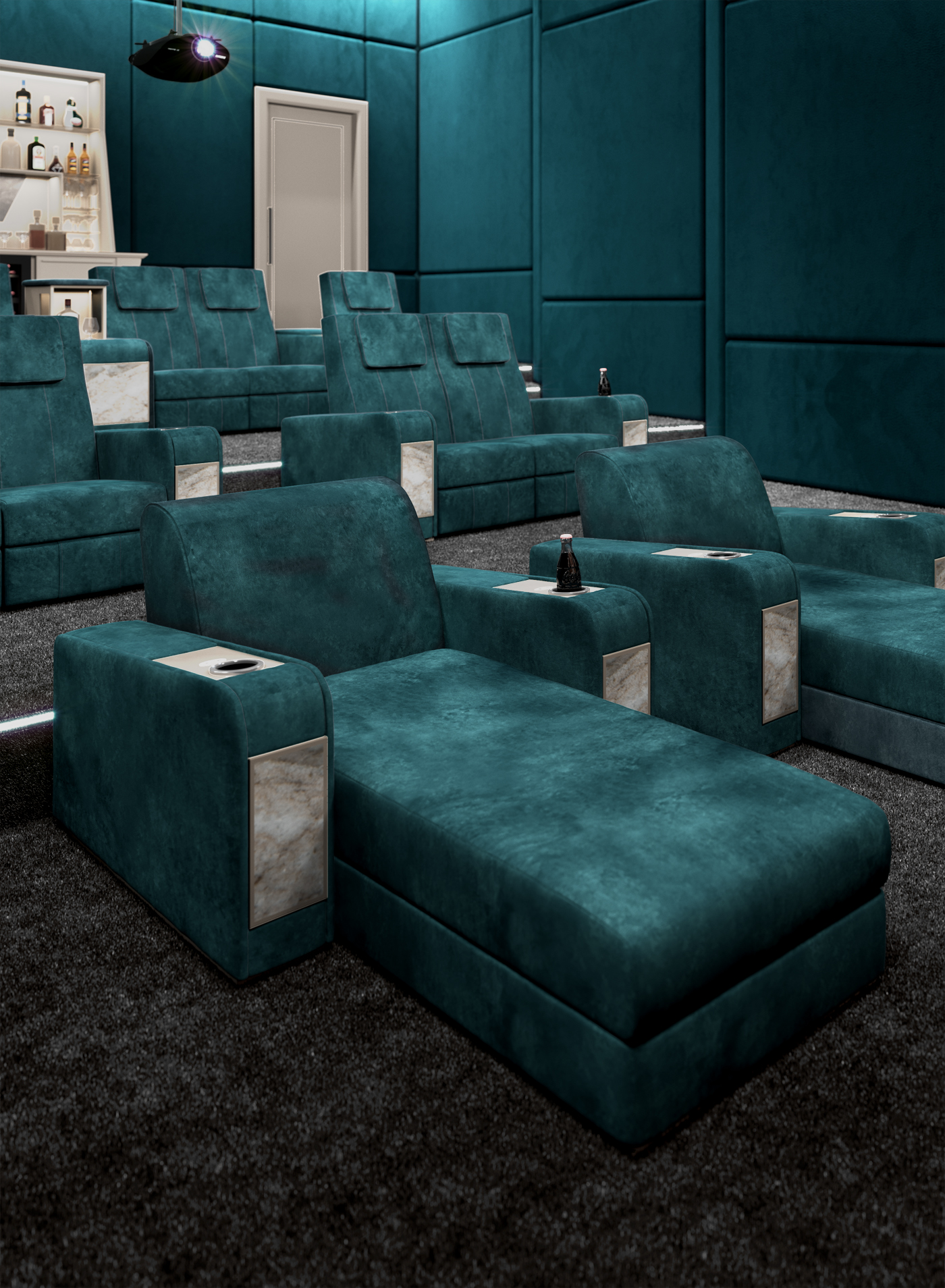 Luxury Home Theater Chairs By Vismara Design