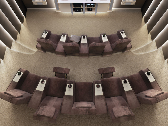 Bespoke Cinema room with cinema chairs for sale