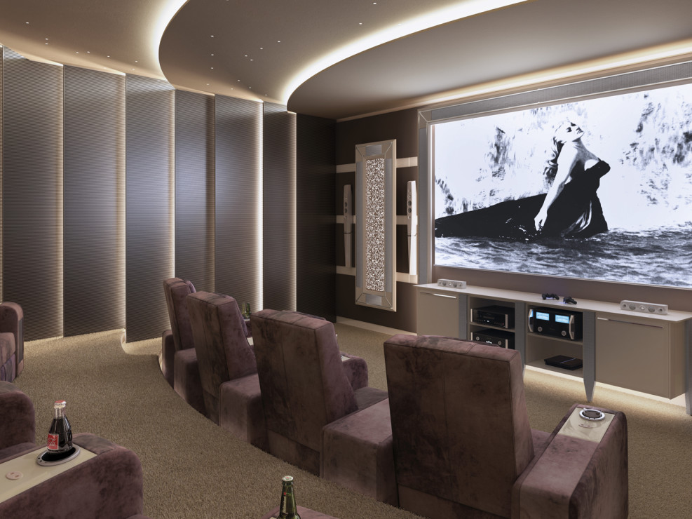 Home Theater chairs for Luxury Cinema Room