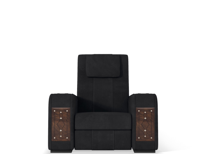Home cinema reclining chair with head cushion