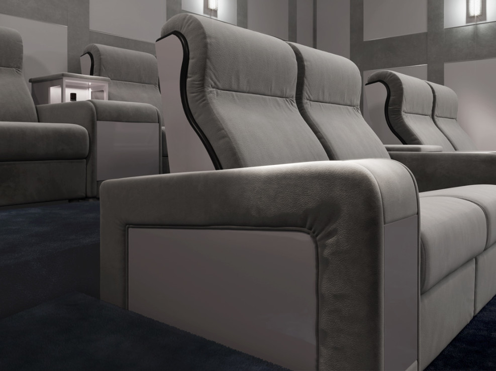 Contemporary home cinema seating for luxury home cinema room