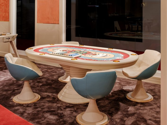 Oval Poker Table for Sale