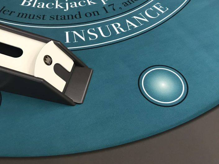 details of Blackjack Table made in italy