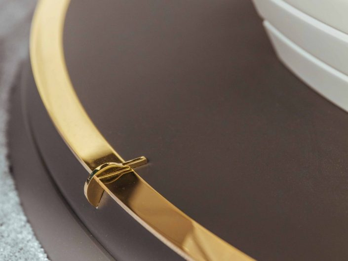 gold steel details of Blackjack Table