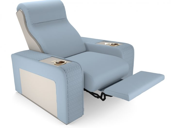 high-end theater armchair with reclining