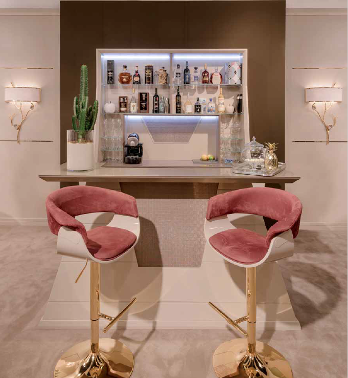 Luxury bar stools produced in Italy