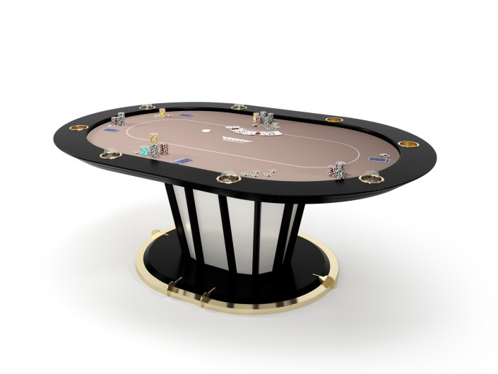Oval Luxury Poker Table for home