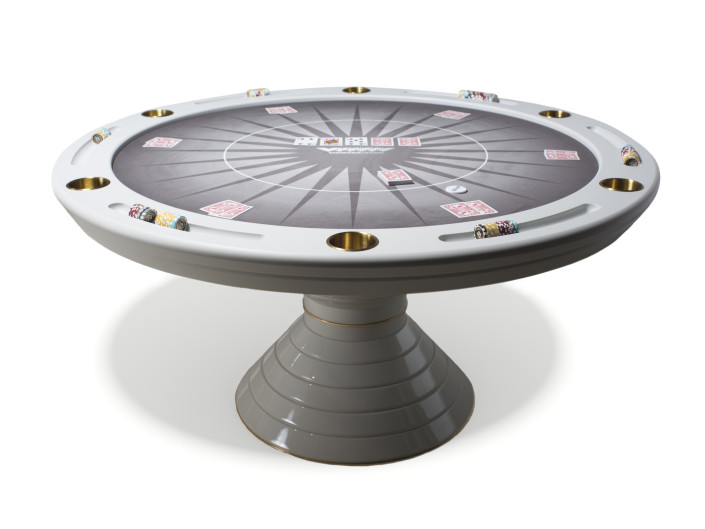 Luxury Round Poker Table Made in Italy