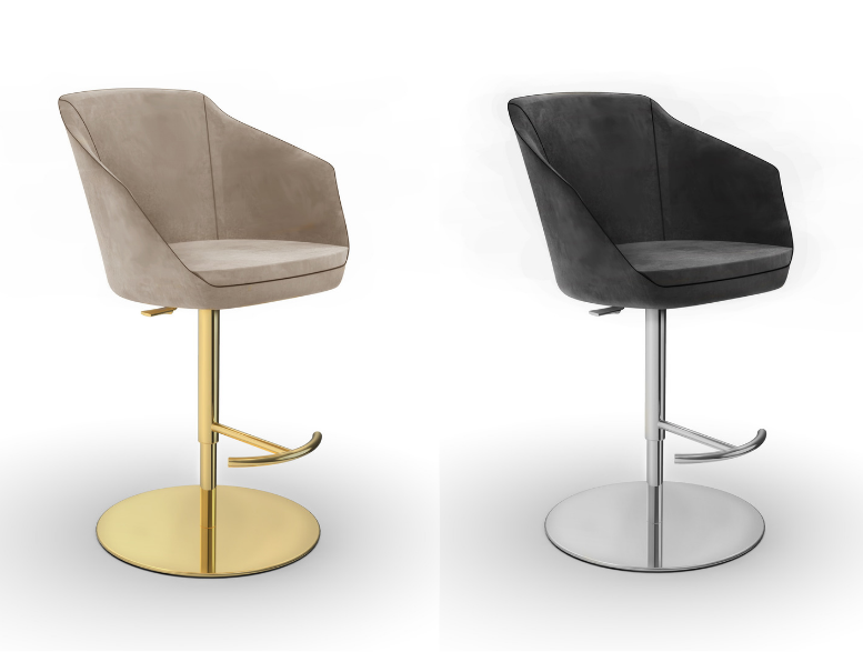 swivel bar stool luxury Leather