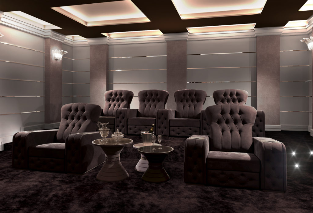 Home theatre seating for luxury home cinema