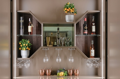HIDDEN HOME BAR