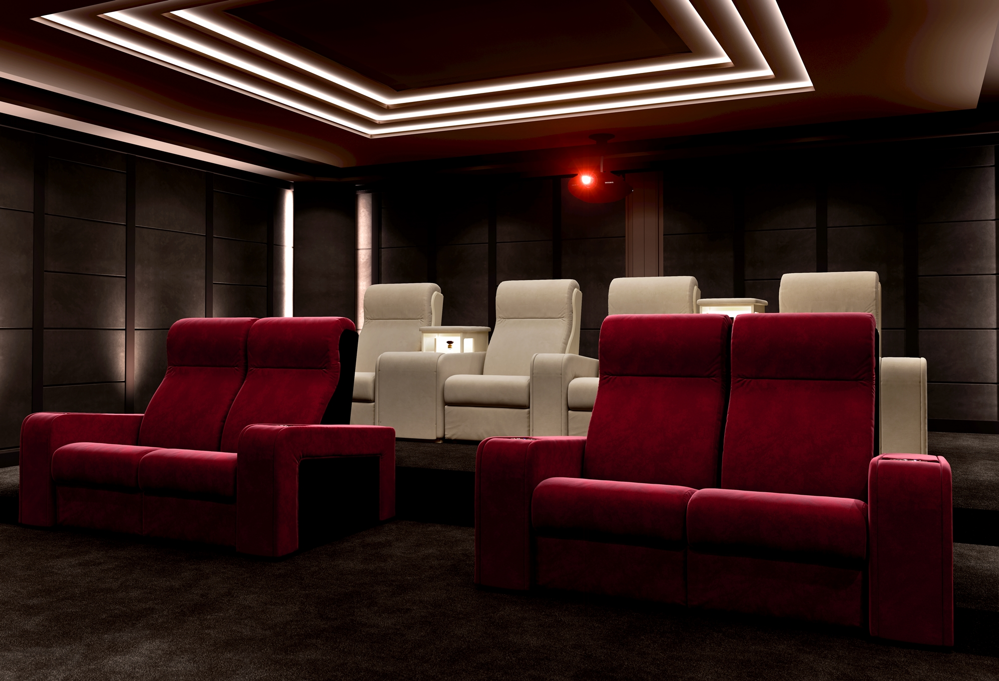 cinema room for man cave